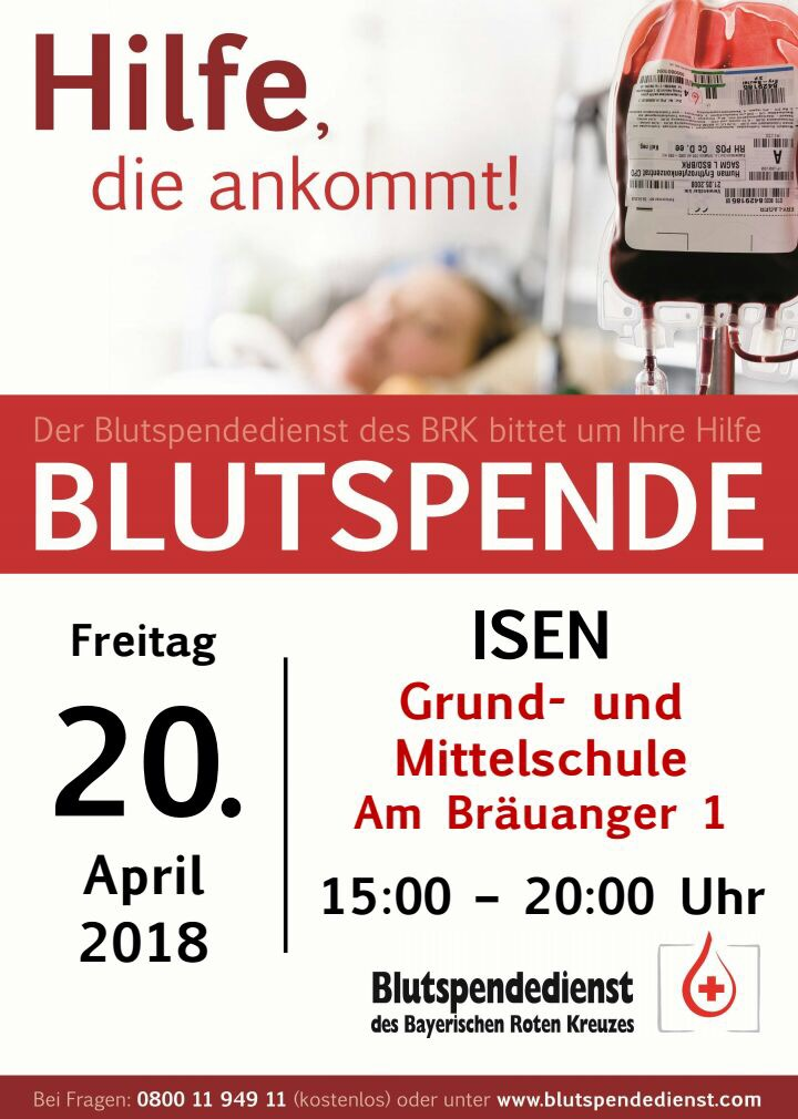 Blutspende in Isen am 20.04.2018